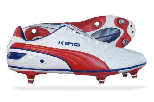 Puma King Finale SG Mens Fußballschuh / Cleats - weiß & Rot