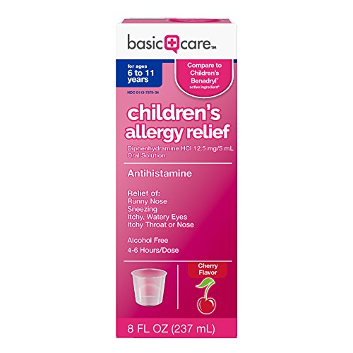 Basic Care Children's Allergy Relief Diphenhydramine HCl Oral Solution, 8 (Childrens Benadryl)