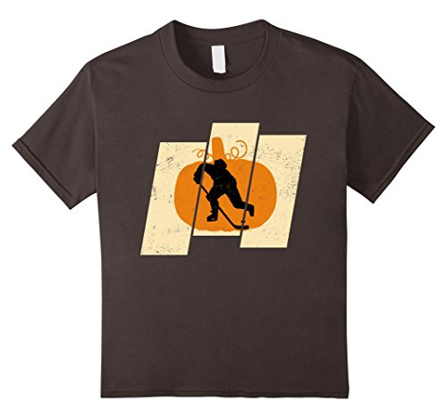 Hockey Puck Halloween Costume (Kids Pumpkin Hockey Sports Lovers Halloween T-Shirt 6 Asphalt)