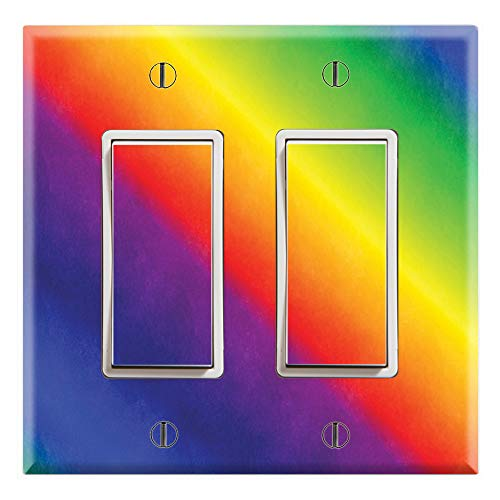 (Graphics Wallplates - Rainbow - Dual Rocker/GFCI Outlet Wall Plate Cover)
