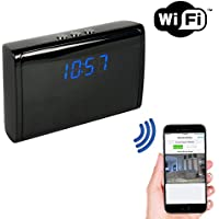 SpygearGadgets 1080P HD WiFi Internet Streaming Clock Hidden Nanny Camera - No Visible Pinhole - Stream Live HD Video to iPhone or Android