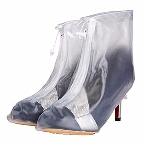 ShopSquare64 Las Mujeres Impermeabilizan los Zapatos de la Lluvia Cubren los Cargadores los Zapatos del Alto Talã³n Slip-Resistant Overshoes el Engranaje de la Lluvia