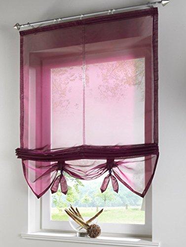 Uphome 1pcs Liftable Organza Kitchen Balcony Curtains - Tie-