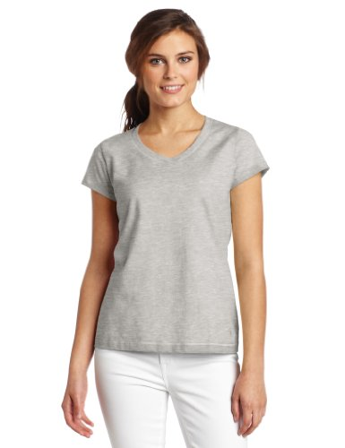 Champion Women's Favorite V-Neck Tee, Oxford Gray, X-Large