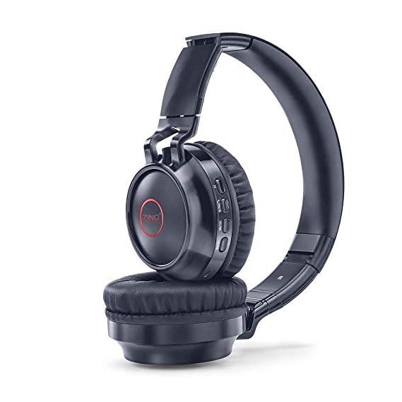 Zinq Technologies Erupt 4155 Super Bass Bluetooth On-Ear Headphones with Mic (Black)
