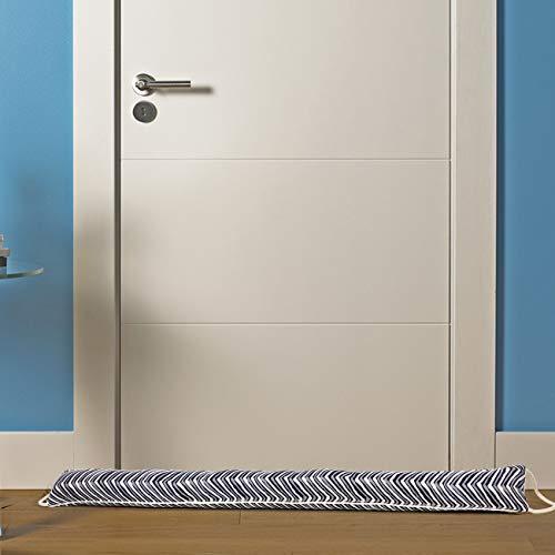 Protector de tiro de la puerta 92 X 10 cm Tope de tiro de la puerta Bloqueador de puerta de burletes con cable para colgar 1150 g de peso Excluidor de tiro