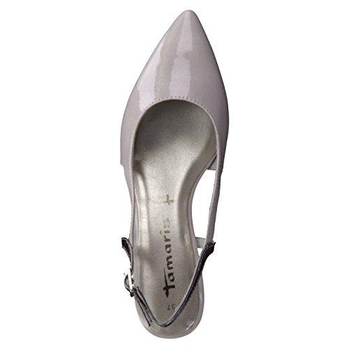 Mujeres zapatillas BLACK PATENT negro, (BLACK PATENT) 1-1-29601-28/018 Grau