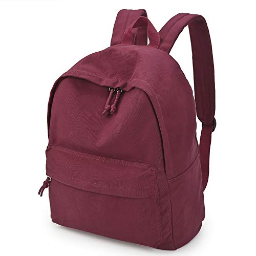 Zicac Unisex DIY Canvas Backpack Students Daypack Satchel (Red) by Zicac