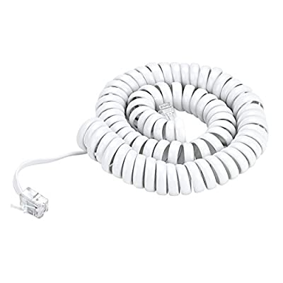 Pasow Telephone Handset Coil Cord Phone Reciever RJ9 Coiled Cable