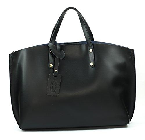 BAG Noir CHANTILLY en Sac Main glacé cuir Modèle OH femme MY à 5nxBBw
