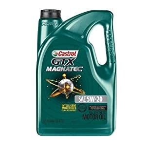 Castrol 03063 GTX MAGNATEC 5W-20 Full Synthetic Motor Oil, 5 Quart from Castrol