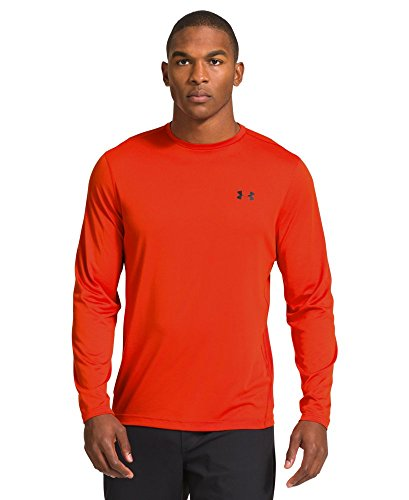 Under Armour Men's 1249033-838M Performance L/S Tech Tee, Dark Orange/Navy, M