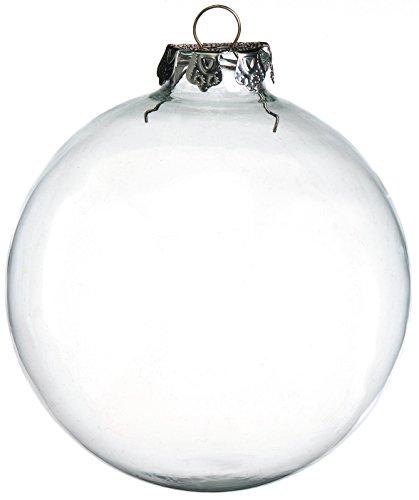 Darice 2-Piece Glass Balls, 100mm, Clear (Clear Ball Ornament)