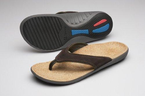 Spenco Men's Yumi Leather Sandal, Black 13M Medium US by Spenco (Image #4)