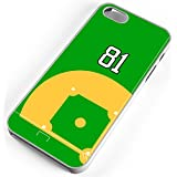 iPhone Case Fits iPhone 6 PLUS 6+ Baseball Diamond Pitchers Mound Home Plate Any Custom Jersey Number 81 White Plastic