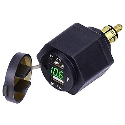 Davitu - Cargador USB doble para motocicleta (conector DIN de 4,2 ...