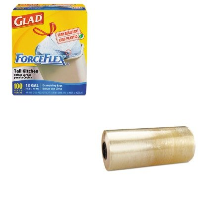 KITCOX70427RFPSMP17 - Value Kit - Reynolds Meat-Wrap Film (RFPSMP17) and Glad ForceFlex Tall-Kitchen Drawstring Bags (COX70427)