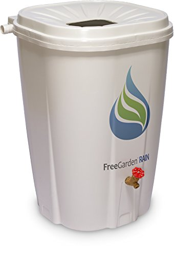 Enviro World EWC-10 FreeGarden Rain Barrel, Beige
