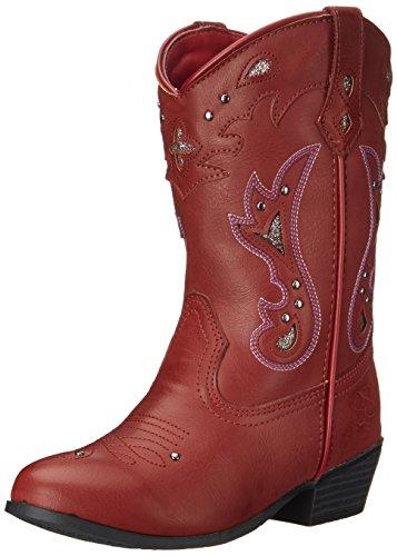 Jessica Simpson Starlet Western Boot (Little Kid/Big Kid), Red, 13 M US Little Kid