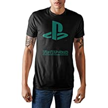 Bioworld Sony Playstation Japanese Logo Men's Graphic T-Shirt