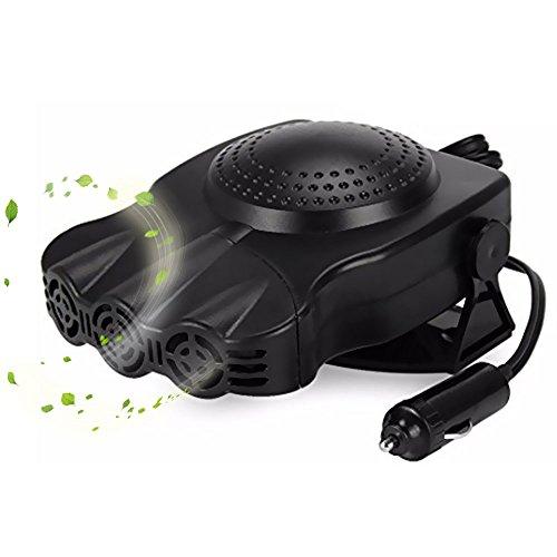 ACCTENIK Car Heater and Cooling Fans Portable Vehicle Heating Cooling Fan Defroster Demister - 200W 12V/24V