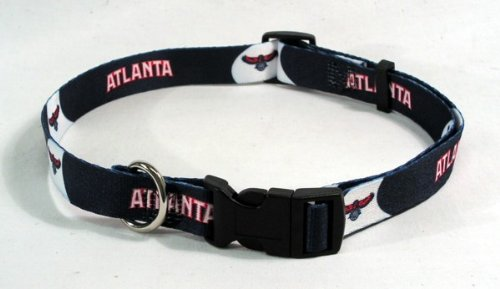 NBA Atlanta Hawks Adjustable Pet Collar, Team Color, Large