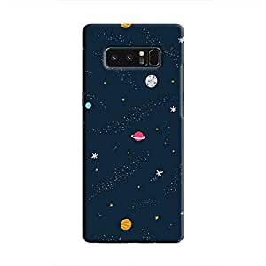 Cover It Up - Solar system Print Galaxy Note 8 Hard case