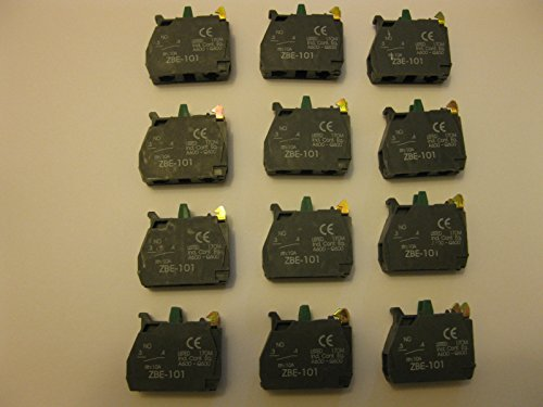 (10 pcs of ZBE-101 N.O FITS FOR TELEMECANIQUE Schneider CONTACT BLOCK)