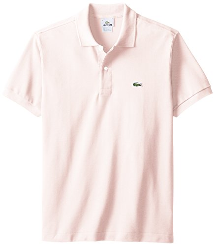 Lacoste Men's Short Sleeve Pique L.12.12 Classic Fit Polo Shirt,  Flamingo Pink, X-Large ()