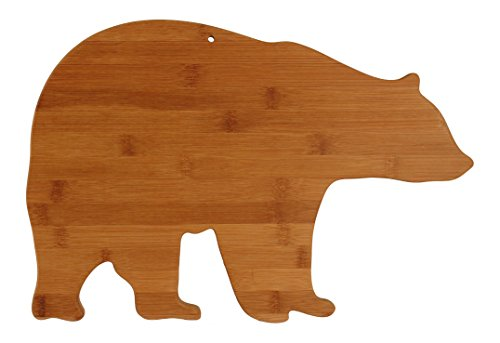 Totally Bamboo Bear Shaped Bamboo Cutting & Serving Board, 15