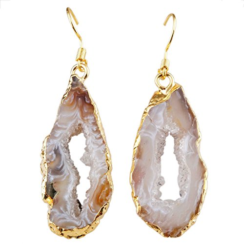 SUNYIK Natural Crystal Quartz Earrings product image