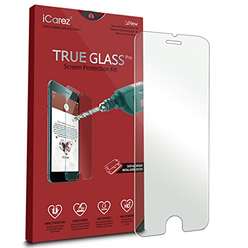 iCarez [Tempered Glass] Screen Protector for Apple iPhone 6 Plus /6s Plus (1-Pack 9H 0.33MM 2.5D) Anti Scratch Easy Install with Lifetime Replacement Warranty