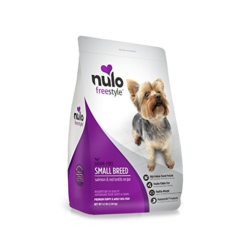 Nulo Small Breed Grain Free Dry Dog Food With Bc30 Probiotic (Salmon And Red Lentils Recipe, 4.5Lb Bag) (Freestyle Lock)