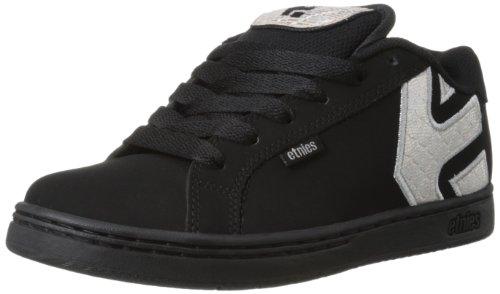 etnies Women's Fader Skate Shoe,Black/Dark Grey/Silver,7 D US