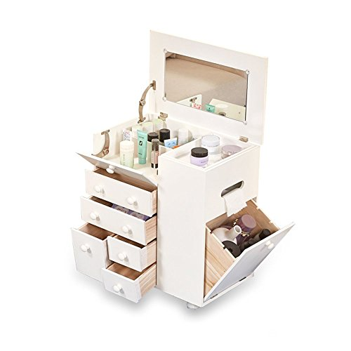 ZJⓇBedside table Makeup Cabinet - White Mini Wood Multifunctional Dressing Cabinet Simple Bedroom Bedside Table Bay Window Makeup Cabinet Size -30x50x55cm # (Rattan Bedside Table Classic)
