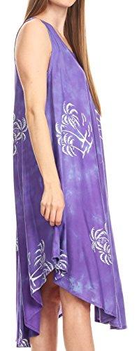 Sakkas Violet fit Summer Dye dcontract Batik avec Tie Tank Robe Maddalena Relax gPZrSgq