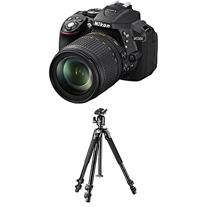 Nikon D5300 SLR-Digitalkamera (24,2 Megapixel, 8,1cm (3,2 Zoll) LCD-Display, Full HD, HDMI, WiFi, GPS) Kit inkl. AF-S DX 18-1