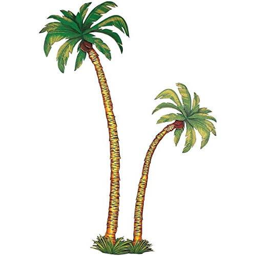 Widmann GU48031 - Decor palmier carton - set de 2 pces 180 cm et 116 cm