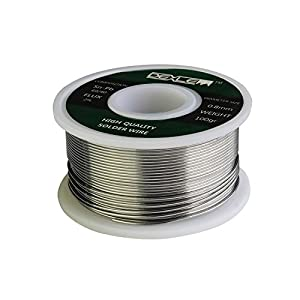 DELE Lead Free Solder Wire with Rosin Core for Electrical Soldering 100g (0.3mm)