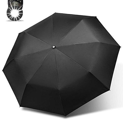 c6b64c549038 Walkine Travel Golf Umbrella,Windproof,Auto Open & Close,LED ...
