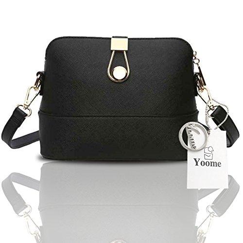 Yoome cruz patrón retro de lujo bolso embrague embrague de bolsos para las niñas de los bolsos casuales para las mujeres - azul Negro