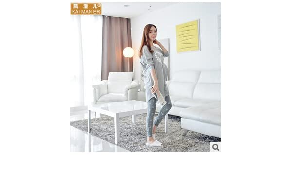 Amazon.com: MH-RITA Korean Autumn Winter Pajamas Cartoon Long Sleeve Cotton Pajama Set Plus Size Pijamas Mujer Pijama Women M L XL XXL 3XL Q580,Gray 2,XL: ...