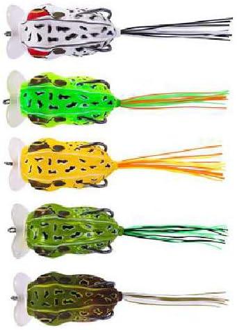 5PCS / 10PCS Sistema De Superficie De Agua De Tiro Largo Señuelo Cebo Thunder Frog Bionic Fishing Bait 5,5 cm/Cinco Colores B