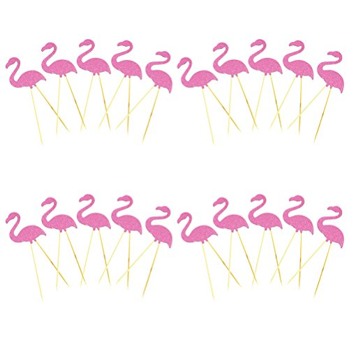 20-Pieces-Cake-Topper-Flamingo-Cake-Picks-for-Birthday-Party-Luau-Beach-Party-Decoration-By-DINGJIN