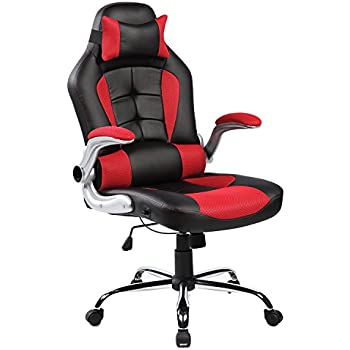 Unique Merax High Back Ergonomic Pu Leather Office Chair Racing Style Swivel Chair Computer Desk Lumbar