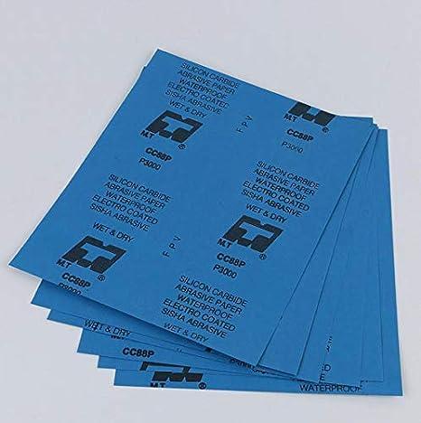 Lot de 5 Pcs Papier de Verre de 80 /à 8000 Papier Abrasif pour Voiture Meubles en Bois Pierre Peinture M/étal Verre 23x9cm//28x23cm 320 23x9cm