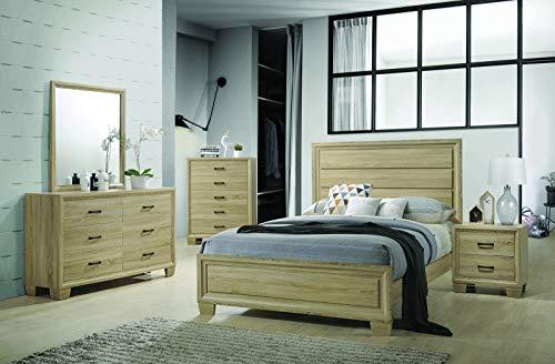 Coaster Home Furnishings 206351KE Panel Bed, White Washed Oak ()