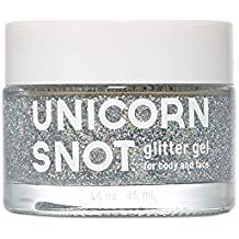 Unicorn Snot Holographic Body Glitter Gel - Vegan & Cruelty Free - Gift - Festival - Rave - Costume (50 ml)(Silver)