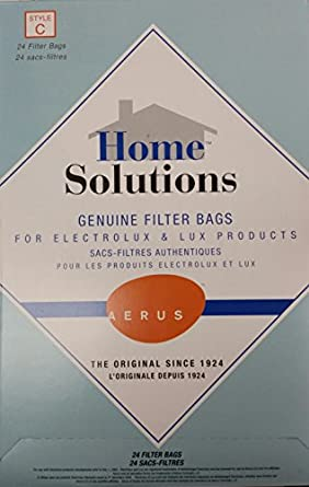 Home Solutions Genuine Filter Bags for Electrolux & Lux Products -- Style C -- Anti-microbial Filter Bags,24 Filter Bags