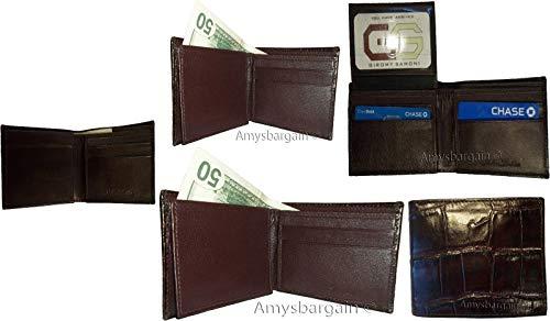 Billeteras De 5 Id Hombre 2 Impreso Pliegue Del Doble De Nuevo Billetera De Cocodrilo Lote Cuero De Piel OHxwTqdd